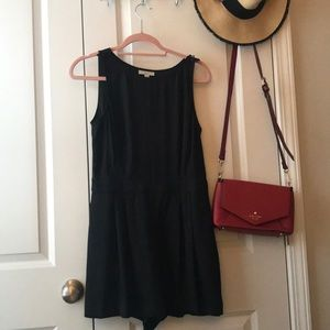 Loft black romper with pockets!